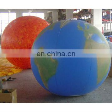 Inflatable PVC balloon/helium balloon/promotional balloon/sun & earth PVC advertising balloon/cube
