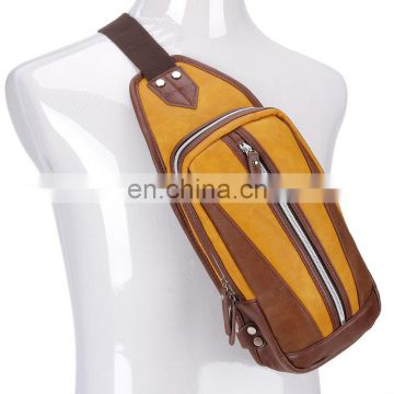 China supplier ergonomic messenger bag leather men for riding