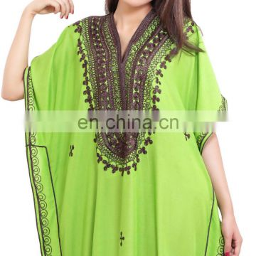 Elegant Moroccan Caftan Women Arabian Beach Summer Long Dress Muslim Abaya Cotton dress