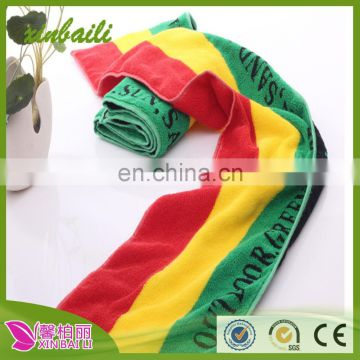 wholesale yarn dyed stripe towel cotton yoga towel soft and cofortable