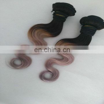Stock Hot Selling Two Tone Hair Weft color 1b/gray