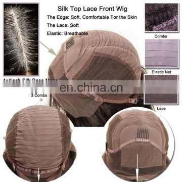 Silk Top Lace Wig Malaysian Virgin Human Hair Wigs Straight Silk Base Lace Front Wigs With Baby hair