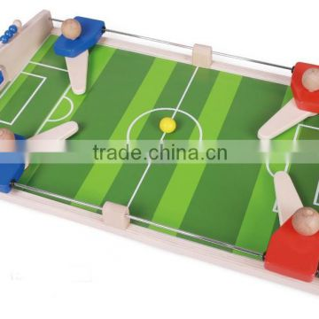 Hot sale wooden football table games can move to sports different feeling and cooperate baby toys twins combination game table