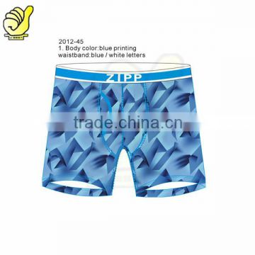 Cotton men's sexy printing boxer briefs fashion underwear manufacturers personalized size men's sexy short