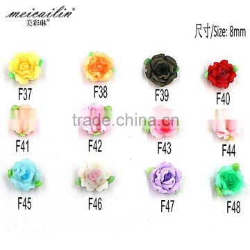 6mm Colorful Resin Flower Polymer Clay Fower for Nail Art Phone DIY Decoration