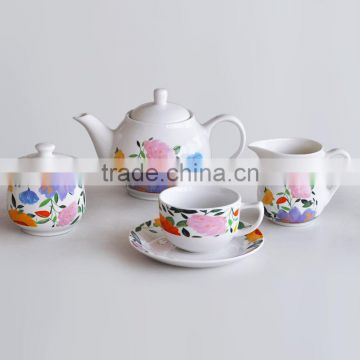 15pcs wholesale ceramic promotional cheap tea and coffee set