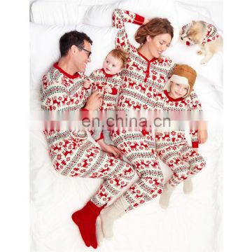 Christmas Deer Pattern Sleepwear Parents-Children Family Matching Costume Pajamas
