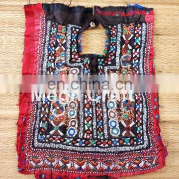 Banjara Gypsy Fabric Neck Yoke Patch - Vintage Handmade Mirror work yoke neck Patch