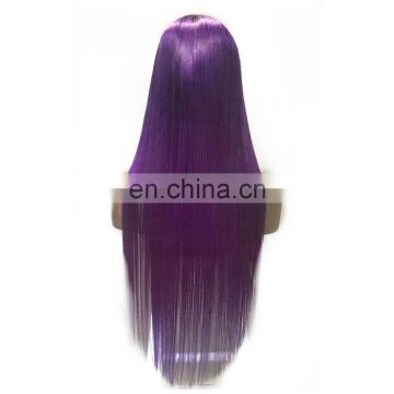2017 new arrival virgin quality full lace wig purple color