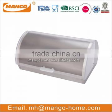 Stainless Steel Body Plastic Lid Bread box