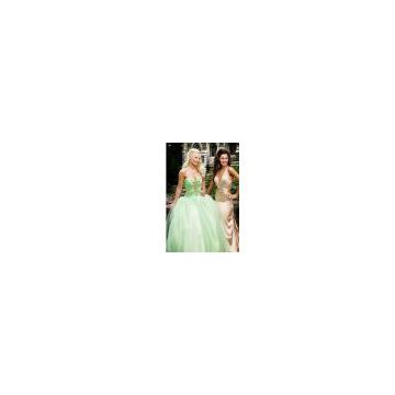 Prom dress, Evening Gown with Italian Organza (14-001-003-0028-)