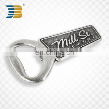 Antique silver plating Zinc alloy metal bottle opener parts