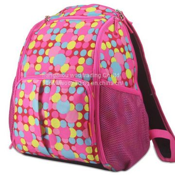 waterproof printed polyester diaper bags for baby exported to American