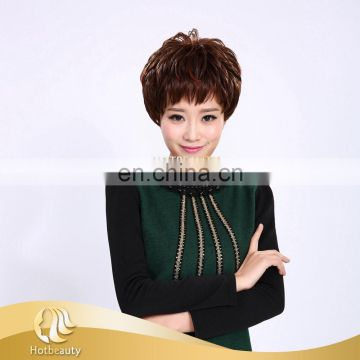 2015 the most popular mix color full lace machine synthetic sewing wig