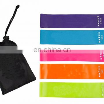 High Quality Bodybuilding Fitness 4 pcs Latex Workout Resistance Band With Heavy Duty Protective Nylon Sleeves Anti-Snap