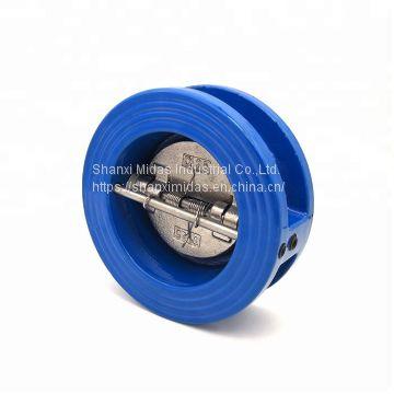 China cast ductile iron wafer type double door check valve manufacturer