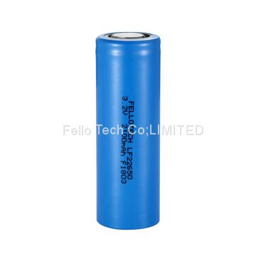 LF18650 3.2V 1500mAh LiFePO4 cell used for solar street light, solar power bank etc