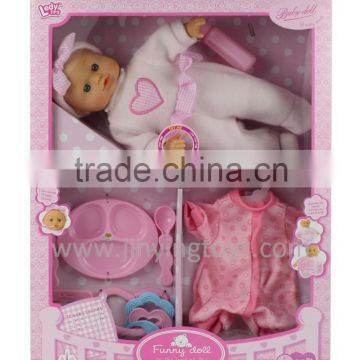 12 inch stuffed body doll with 12 different IC sounds by touching hands with EN71