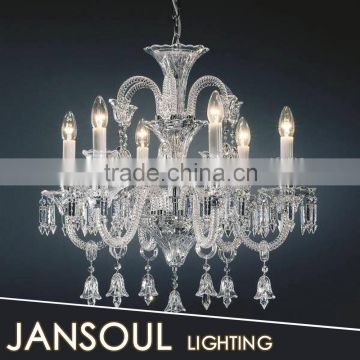 best quality murano glass chandelier with bowl lampshade for wholesale