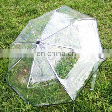 Auto open&close transparent folding umbrella