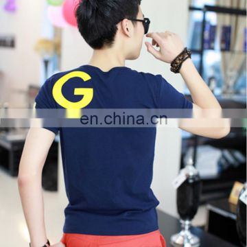 Peijiaxin Fashion Design Casul Style Men Lycra Printed Cotton Custom Design T-shirt