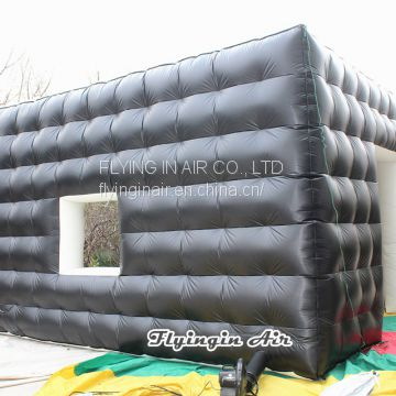 Outdoor Black Indoor White Inflatable Cube Tent for Exhibition and Event