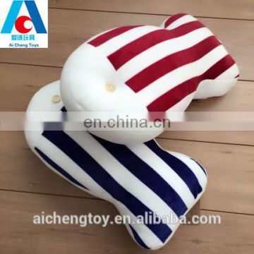 china manufacturer made cute soft fish shaped plush stuffed pillow with a button