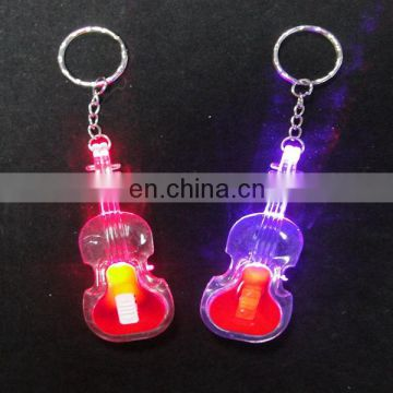 Best selling item mini led light guitar keychain from china factory