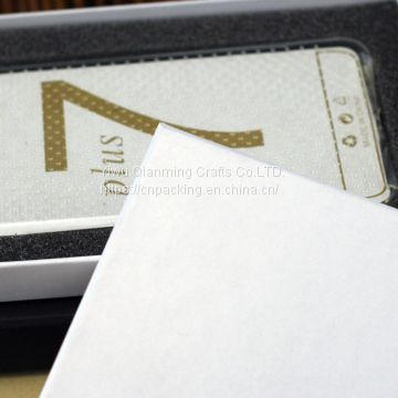 Paper packaging kraft paper world cover 6p/7p/8p mobile phone film gift box in mobile phone case