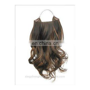 new beautiful hot Hot sale!!!China factory double drawn wholesale price halo hair extensions