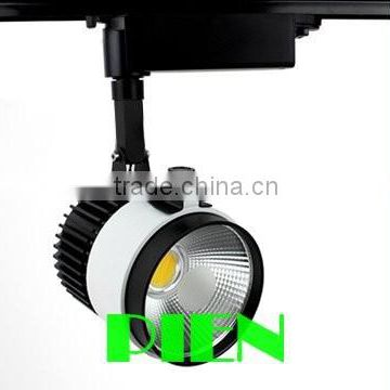 Commercial LED track light with black body