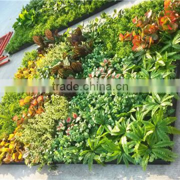 Home and outdoor decoration synthetic cheap artificial vertical green grass wall E08 04B16