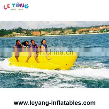 Giant Shark Heavy Commercial PVC Inflatable banana boat For Water Sports