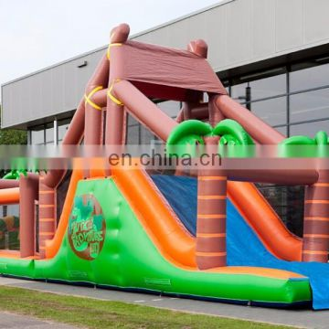 obstacle run course jungle inflatables /inflatable obstacle run track jungle