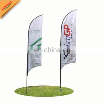 custom size available teardrop feather outdoor advertising flag