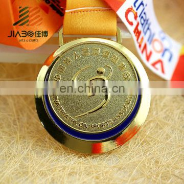3d soft enamel custom metal sport award gold silver bronze triathlon medals