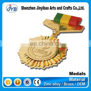 wholesale customized war military police medals and medallions with ribbon