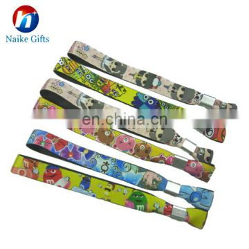 slide lock festival wristband clasp For Events