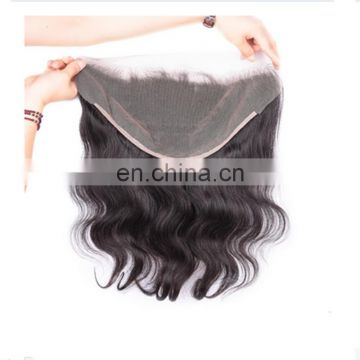 Fashion virgin body wave brazilian lace frontal ,wholesale price human hair lace frontal closure 13*4