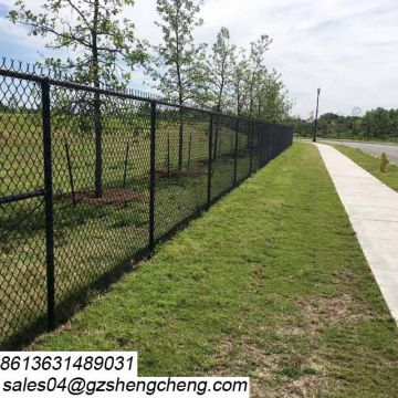 Chain link barbed wire fence security Y post for boundary
