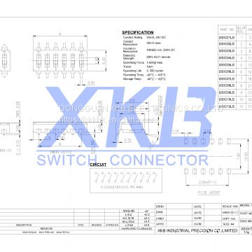Best sales 2.54mm space  pin(1-12) DIP switch