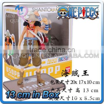 MINI QUTE 13 cm pirate Japanese anime one piece action figure Usopp brinquedos boys in box NO.MQ 069