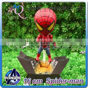 MINI QUTE 16 cm kawaii marvel action figures avenger super hero spiderman brinquedos boys toys in color box NO.MQ 057