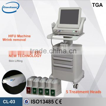 8MHz Cosmetic Use FDA Ultrasound HIFU Machine For Anti-wrinkle Removal High Frequency Facial Machine Home Use