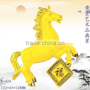 New design 24k Gold Plated horse decoration