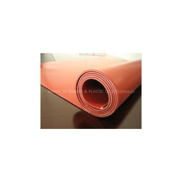 red silicone rubber sheet insert 1PLY fabric