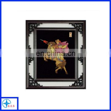 Custom design resin 2D action figure relief with frame for wall decor