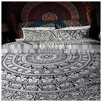 Twin Size Elephant Mandala Duvet Cover Indian Doona Cover Throw Quilt Cover Decorative Mandala Blanket Cover