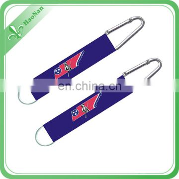Fashion High Quality Metal Aluminum Carabiner With Short Strap