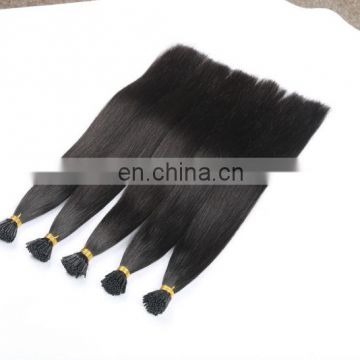 Hot selling unprocessed virgin brazilian i tip hair extensions wholesale
